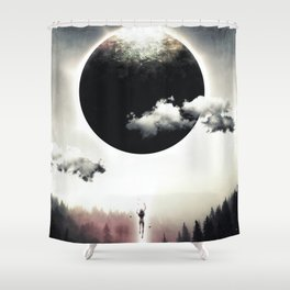 A Dream of Gravity Shower Curtain