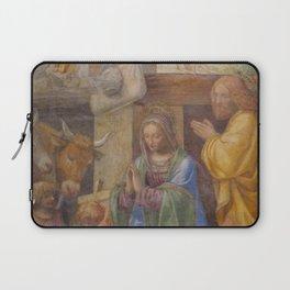 Bernardino Luini - Nativity and Annunciation to the Shepherds Laptop Sleeve