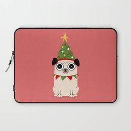 It's Christmas for Pug's Sake Laptop Sleeve