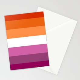 Lesbian Pride Flag Stationery Cards