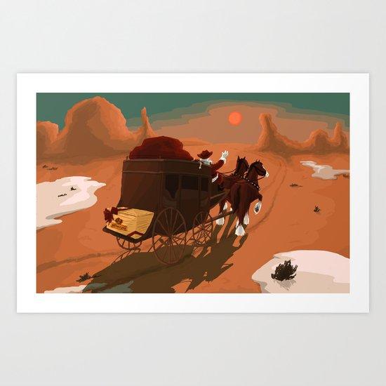 Texas Christmas Art Print