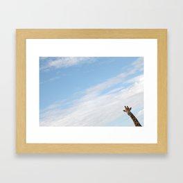 Hello Giraffe Framed Art Print