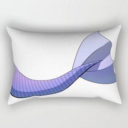 Pastel Indigo Mermaid Tail #ArtofGaneneK #DigitalArt #Scales Rectangular Pillow