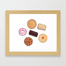 Biscuits.... but where's the tea? Framed Art Print