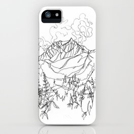 Lupine Time :: Single Line iPhone Case