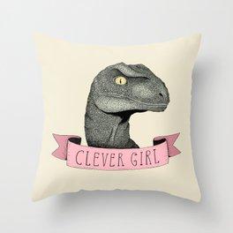Clever Girl - Jurassic park Throw Pillow