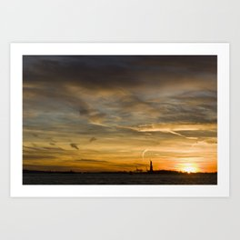 Liberty Sunset Art Print