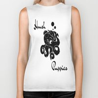 puppies Biker Tanks featuring Hush Puppies Japan by Mike Semler