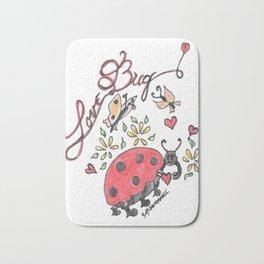 """""""Love Bug"""" Bath Mat"""