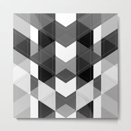 Black and white , abstract 15 Metal Print