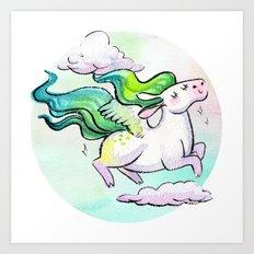 Chubby Pegasus Art Print