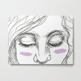 The Age of Recovery Warpaint Girl Metal Print