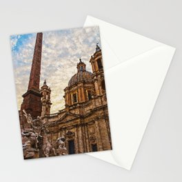 Rome, Piazza Navona Stationery Cards
