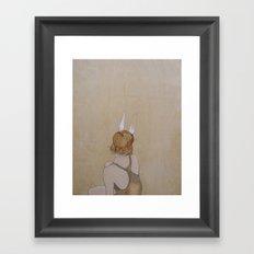 Perk Your Ears Up Framed Art Print
