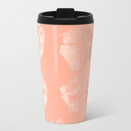 Sweet Life Lips Peach Coral Pink Shimmer Travel Mug