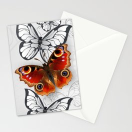 Design with Peacock Butterfly Stationery Cards