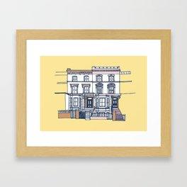 'Notting Hill' house print Framed Art Print