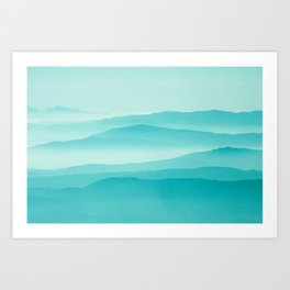 mint sunrise layers Art Print