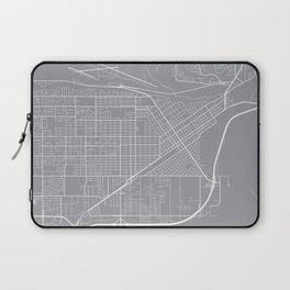 Billings Map, Montana USA - Pewter Laptop Sleeve