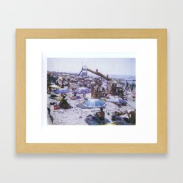 The Beach No. 03 Framed Art Print