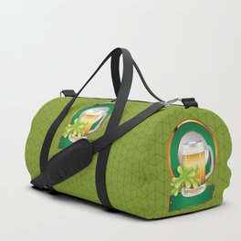 Beer and clover Duffle Bag