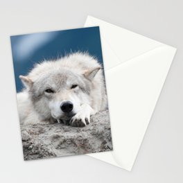 Sleepy Wolf Stationery Cards