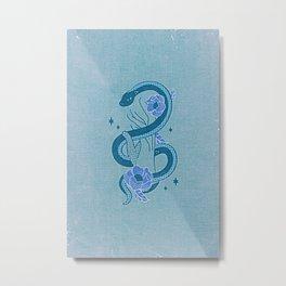 Floral Snake Metal Print