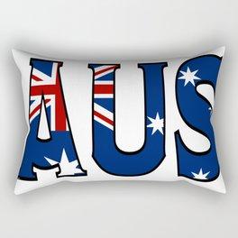 Abbreviated Australia with Flag Rectangular Pillow