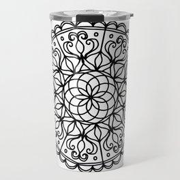 Scalloped Mandala Travel Mug