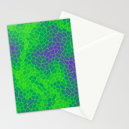 Stained glass texture of snake violet leather with dark heat spots. Stationery Cards