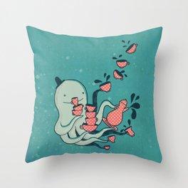 Tea & Tentacles Throw Pillow