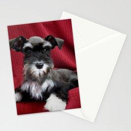 Oreo Schnauzer Puppy Stationery Cards