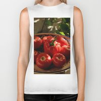 vegetables Biker Tanks featuring Red vegetables by Svetlana Korneliuk