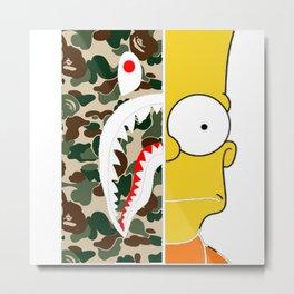 Bape Simpsons Metal Print