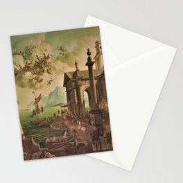 Ulysses Farewell to Penelope Seaport Landscape by Rex Whistler Stationery Cards