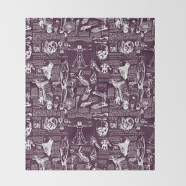 Da Vinci's Anatomy Sketchbook // Blackberry Throw Blanket