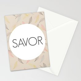 Savor Life Stationery Cards