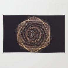Geometric Rose Rug