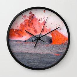 volcano #society6 #decor #buyart Wall Clock
