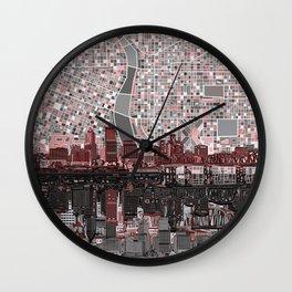 portland city skyline Wall Clock