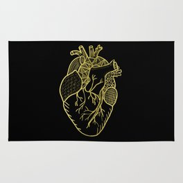 Designer Heart Gold Rug