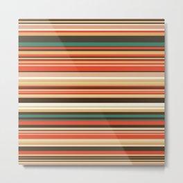 Old Country Stripes - Green Cinnamon - Horizontal Metal Print