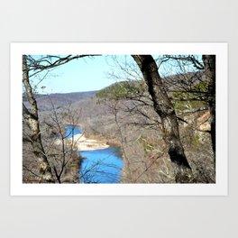 Clmbing Up Sparrowhawk Mountain above the Illinois River, No. 2 of 8 Art Print