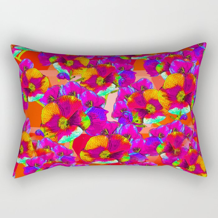 Flowers 2 - Fuchsia Rectangular Pillow