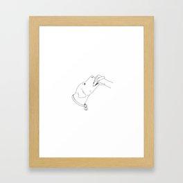 Push Your Banger Inside Lady Framed Art Print