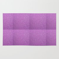 glitter Area & Throw Rugs featuring Glitter by mailboxdisco