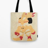 digimon Tote Bags featuring Rapidmon  by JHTY