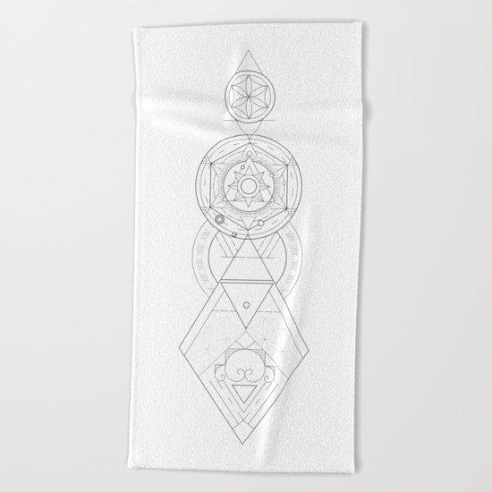 Geometric Universe Mandala Beach Towel