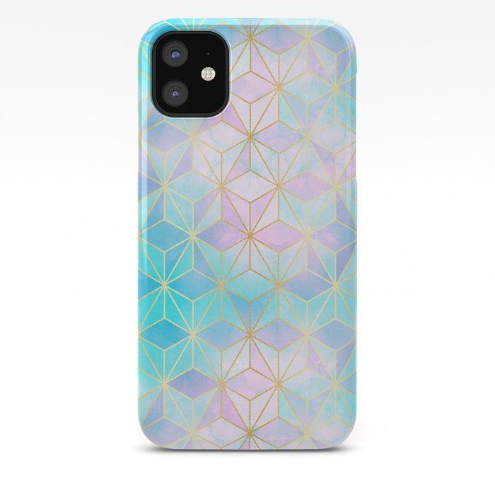 Iridescent Glass Geometric Pattern iPhone Case