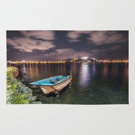 Lake at night Rug